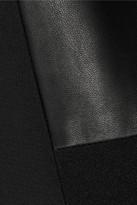 Rag and Bone Rag & bone Montrose leather-paneled stretch-crepe dress