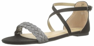 The Divine Factory Women's Rosaria Open Toe Sandals