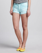Free People Dolphin Cut-Off Shorts, Light Blue