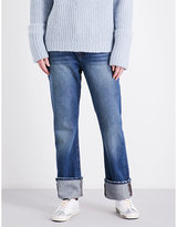 Frame Straight high-rise jeans