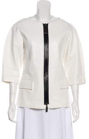 8f43d6df0 Linen Short Sleeve Jacket