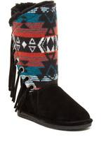 BearPaw Kathy Genuine Sheepskin Fringe Boot