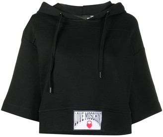 Love Moschino Half-Sleeved Hooded Sweatshirt