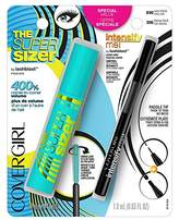 Cover Girl Super Sizer Mascara Very Black 800 and Intensify Me! Eye Liner Intense Black 300 Special Pack, .448 oz