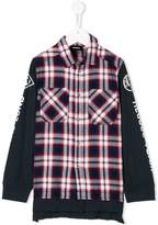 Diesel plaid sweatshirt