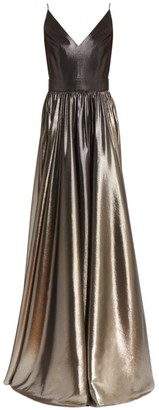 Givenchy Sleeveless Lame V-Neck Gown