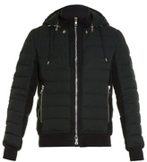 Balmain Detachable-hood Quilted Padded Jacket