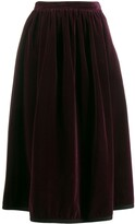 Saint Laurent Pre Owned 1970's velvet skirt