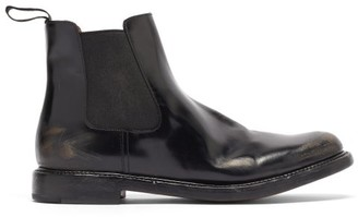 Church's Nirah Distressed-leather Chelsea Boots - Black