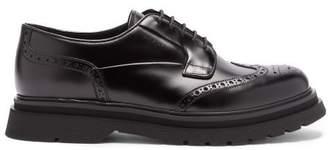 Prada Raised-sole Leather Brogues - Mens - Black