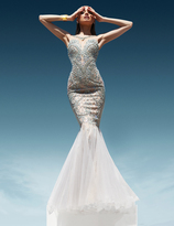 Terani Couture Embellished Illusion Neck Gown 1611GL0472B