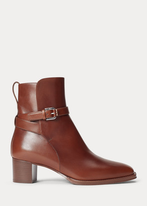 Ralph Lauren Callie Burnished Calfskin Boot