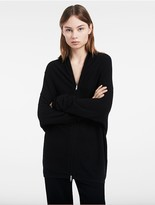 Calvin Klein Platinum Boiled Cashmere Zip Cardigan