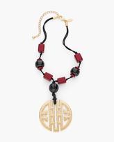 Chico's Parker Medallion Necklace