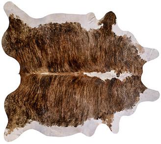"Saddlemans Natural Hide - Brown Tricolor 6'x7'6"""