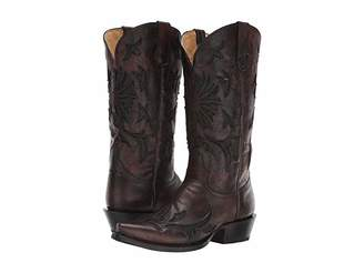 Roper Arroyo Snip (Burnished Brown Leather) Cowboy Boots