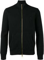 Burberry logo embroidered zipped sweatshirt