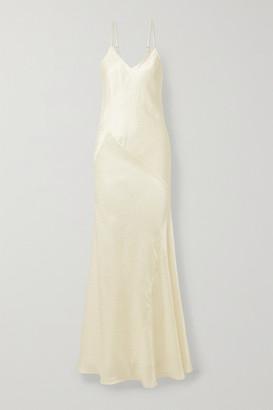 Mes Demoiselles Polka-dot Satin-jacquard Maxi Dress - Ivory