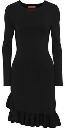 Altuzarra Mikey Asymmetric Ruffle-trimmed Stretch-knit Dress