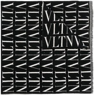 Valentino Logo-Print Cashmere Scarf