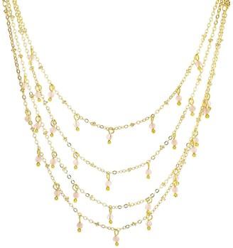 Panacea Crystal Drops Triple Row Necklace