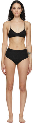 Oseree Black High-Waisted Lumiere Bikini
