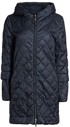 Max Mara Enovel Reversible Quilted Longline Jacket