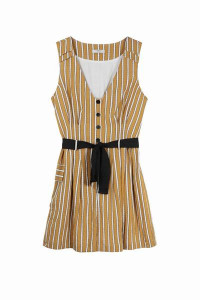 FRNCH Morgane F 10164 Jumpsuit Ocher Stripe - S