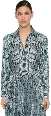 Roberto Cavalli Python Print Silk Twill Shirt