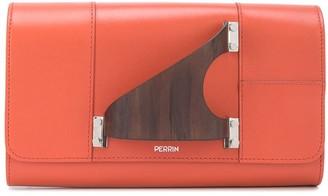 Perrin Paris L'Eiffel handle detail clutch bag