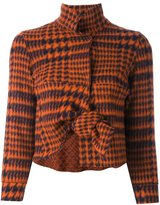 Hache knot detail cropped jacket