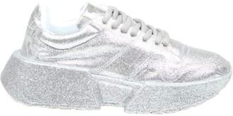 MM6 MAISON MARGIELA Mm6 Fine Glitter Sneakers Color Silver
