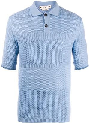 Marni Open-Work Knit Polo Shirt