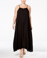 Raviya Plus Size Lattice-Back Cover-Up Dress