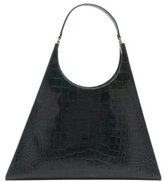 STAUD Large Rey Crocodile Effect Leather Bag - Womens - Dark Green