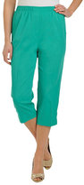 Allison Daley Petite Pull-On Microfiber Twill Capri