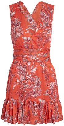 Alexis Cassara Floral Print Mini Dress