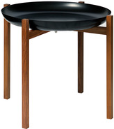 Design House Stockholm Tablo Black Tray Table - Oiled Teak Small Stand