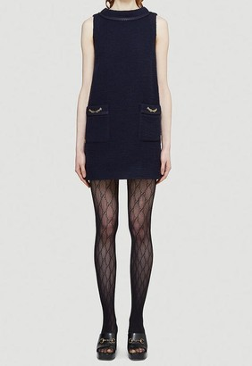 Gucci Tweed Crepe Mini Dress