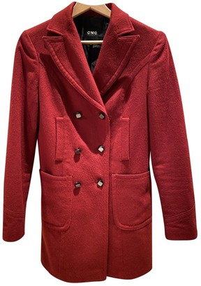 CNC Costume National Burgundy Wool Coat for Women