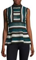 M Missoni Lace Peplum Top