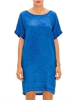 120% Lino 120 Lino Short Sleeve Tee Dress