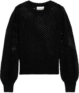 Zimmermann Unbridled Open-knit Mohair-blend Sweater