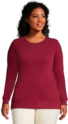Lands' End Plus Size Serious Sweats Crewneck Long Sleeve Sweatshirt Tunic