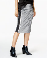 Bar III Sequined Pencil Skirt, Only at Macy's