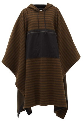Phipps - Striped Organic-cotton Fleece Hooded Poncho - Womens - Brown