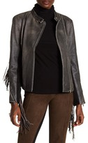 AS by DF Haute Leather Fringe Moto Jacket