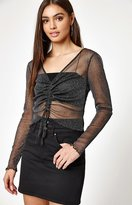 KENDALL + KYLIE Kendall & Kylie Ruched Shine Top