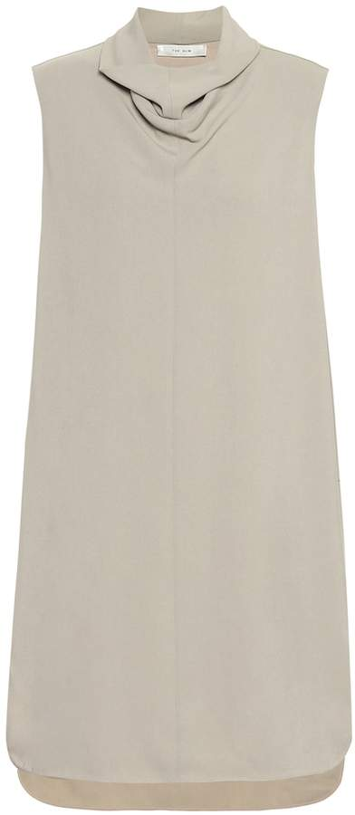 The Row Dorma stretch-cady minidress
