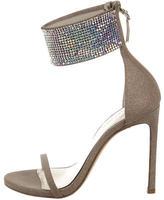 Stuart Weitzman Glitter Cufflove Sandals